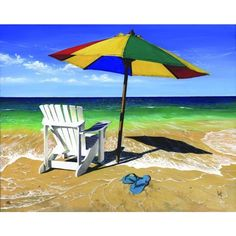 Artist: Scott Westmoreland<br>Title: Surf, Sand Summer <br>Type: Gallery wrapped canvas