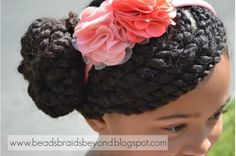 How to make a Sideswept Two-Strand Twist Bun in your little girl's hair!
