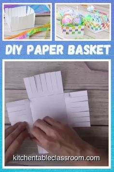 School Art Projects, Easy Craft Projects, Bible Crafts For Kids, Art For Kids, Diy Arts And Crafts, Easy Crafts, Paper Basket Weaving, Primary Activities, Basket Crafts
