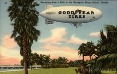 Miami, FL Poster Art, Prints, Paintings & Wall Art for Sale Goodyear Blimp, Goodyear Tires, Occidental Hotel, Mermaid Drink, Miami Photos, Magic City, Sales Image, Vintage Air, Poster