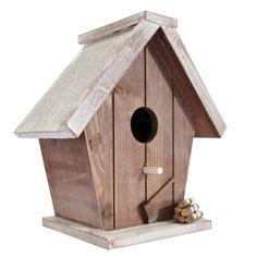 Fågelholk med formad öppning omgången: Eminza, köpa deco sommar Bird House Feeder, Diy Bird Feeder, Bird House Plans, Bird House Kits, Snoopy Dog House, Bird Tables, Outhouse Decor, Bird Houses Diy, Wood Bird