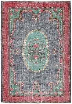 Colored Vintage tæppe 207x300