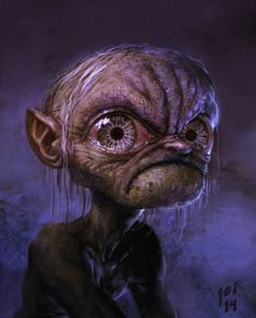 High quality Gollum artworks from The Hobbit and The Lord of the Rings by independent artists and designers from around the world. The Hobbit Gollum, Gollum Smeagol, Tolkien, Robin Williams, Fantasy Movies, Fantasy Art, Illustrations, Illustration Art, Walking Dead