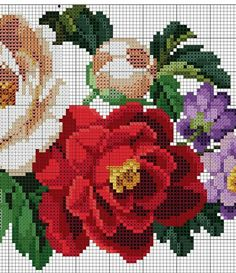 Cross Stitch Rose, Cross Stitch Flowers, Cross Stitch Patterns, Holy Quran, Needlepoint, Needlework, Diy And Crafts, Embroidery, Sewing