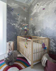 Whether you have a little one at home or not, what element of this whimsical nursery convinces you that kids are a great idea? Nursery Book, Nursery Crib, Nursery Decor, Nursery Design, Nursery Ideas, Room Ideas, Loft Spaces, Kid Spaces, Home Design