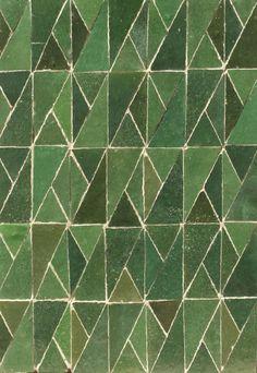 Floor tile / wall-mounted / cement / textured - ZELLIGES CREATIVE : TRENDY GREEN - Ateliers Zelij