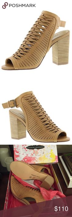 """Chinese Laundry💥Torey Sandals Sz 8💥 Chinese Laundry Torey sandals, cow leather natural💥Sz 8💥EU 38.5💥Opt for this posh sandal whenever you want to turn heads this season Woven leather upper Adjustable ankle strap buckle Lightly cushioned footbed 3-1/2"""" block heel💥New💥 Chinese Laundry Shoes Sandals"""