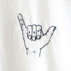 Shaka Finger Embroidery TShirt