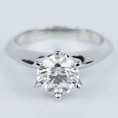 This Six-Prong Knife Edge Diamond Engament Ring in Platinum is off to one soon to be lucky lady! Could it be you? ♥