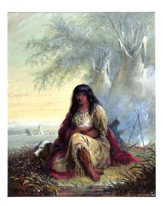 Indian Girl (Sioux) by Alfred Jacob Miller