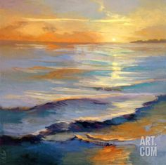 Ocean Overture Art Print by Vicki McMurray at Art.com | Beach Art