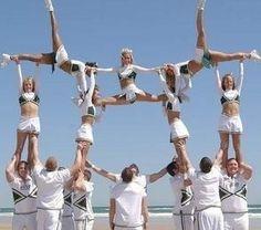 cheerleading stunts helicopter