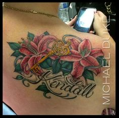 Michael Duke: Fine Tattoo Work Stargazer lily