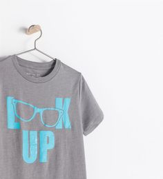 "Image 4 of ""LOOK UP"" T-SHIRT from Zara"
