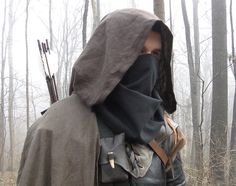 Black Face Mask, Thief, Ranger - Soft Cloth Mask, Basic Costume Cosplay Accessory