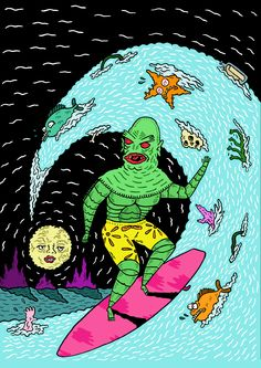 Glad the Creature From the Black Lagoon had a happy ending. Made for www.creaturemag.com