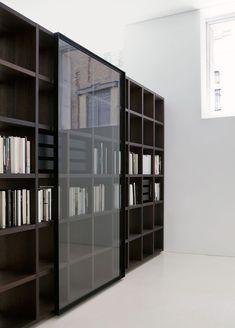 Estantería moderna / en madera / de Piero Lissoni - SYSTEM - Porro