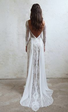 Lace Bohemian Wedding Dresses French Lace Long Sleeve Boho Chic Dress Open Back Bridal Gowns vestido de noiva 2018 Long Sleeves Wedding Dress, Open Back Wedding Dress, Wedding Dresses, Wedding Dress Lace, 2019 Wedding Dress Wedding Dresses 2018 Boho Wedding Dress With Sleeves, Backless Lace Wedding Dress, Western Wedding Dresses, Bohemian Wedding Dresses, Long Sleeve Wedding, Best Wedding Dresses, Bohemian Weddings, Bohemian Bride, Indian Weddings