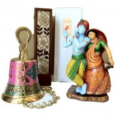 Abstract Radha Krishna & Bell Set | Toshom - Indian Inspired Gifts! Tradition for Today!