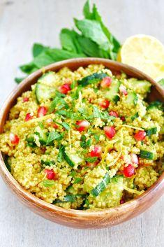 Marokkaanse couscoussalade met granaatappel en citroen 1