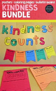 Are you looking for promote kindness and empathy in your elementary classroom this coming school year? Set the tone right away with this complete Kindness Classroom Bundle. 12 unique poster designs, matching coloring pages to reinforce the ideas of respect and kindness towards their classmates and a bulletin board with activity to display your student's acts of kindness! Or grab the elements individually as well.