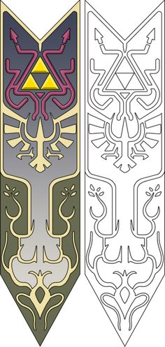 Template/pattern  - character : princess Zelda  - part : apron/tapestry/blazon thing  - game : Twilight Princess  - author : Xceptionalz  - source : deviantart  http://xceptionalz.deviantart.com/art/Zelda-s-Apron-Line-Art-337660397  - note : read the descritption and download in full size !