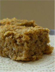 Banana-Oat Snack Bars
