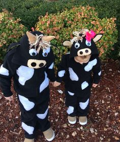 DIY toddler cow costumes