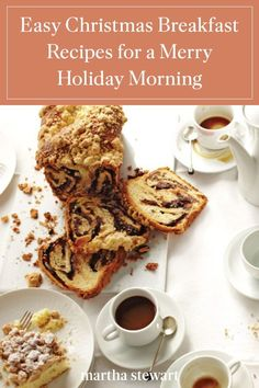 This holiday season, host a cozy yet festive breakfast feast with these delicious recipes, including French toast casserole, an easy quiche, cups of eggnog, and seasonal sweets. #marthastewart #holidayrecipes #holiday #christmascasserole #christmasrecipes #holidaydinner Brunch Recipes, Breakfast Recipes, Dessert Recipes, Drink Recipes, Quiche Cups, Easy Quiche, Christmas Casserole, Christmas Breakfast, Christmas Morning
