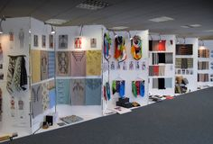 View of the Textiles Degree show Exhibition Display, Exhibition Space, Exhibition Ideas, Textile Prints, Textile Design, Art Careers, Textiles Sketchbook, Portfolio Presentation, Expositions