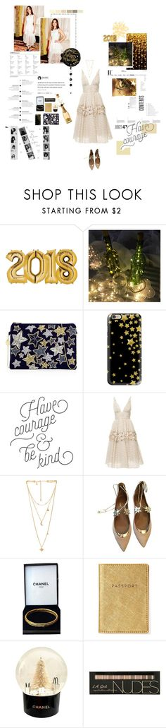"""Happy New Years!!!"" by chrissykinz ❤ liked on Polyvore featuring Oscar de la Renta, From St Xavier, Casetify, Carolina Herrera, Rebecca Minkoff, Aquazzura and Chanel"