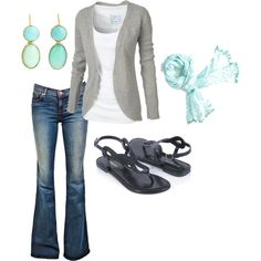 grey and blue, created by fosterwf.polyvore...