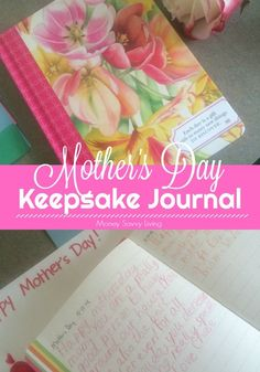 Instead of buying an expensive card this year, start a keepsake journal for Mother's Day! Mom or Grandma is sure to love this gift from the heart! Gifts For Your Mom, Gifts For Father, Mother Day Gifts, Homemade Gifts, Diy Gifts, Best Gifts, Mothers Day Crafts, Crafts For Kids, Christian Homemaking