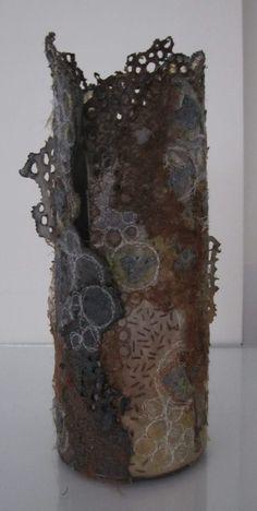 Landscape vessel 'Lichen 3' by Marian Jazmik