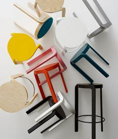 Swedese's Spin collection of stackable ash stools, designed by Staffan Holm. Photo by Ryan Heraly.
