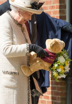 Queen Elizabeth II on a  official visit to Felsted School - May 6, 2014