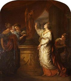 Fig. 9: Angelica Kauffman, Penelope Invoking Minerva's Aid for the Safe Return of Telemachus, 1774, oil on canvas, 150 x 126.4 cm (Stourhead)