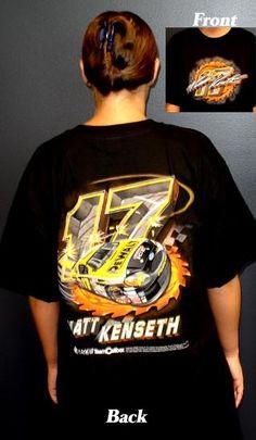 Matt Kenseth Black T-Shirt 100% Cotton