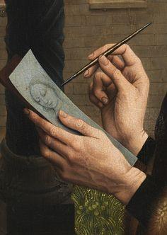 Saint Luke drawing the Madonna (detail), after Rogier van der Weyden, ca. 1500
