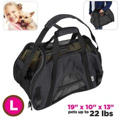 Pet Carrier Dog and Cat Comfort Fleece Bed Soft Side Travel Airline Approved -- You can get more details by clicking on the image.