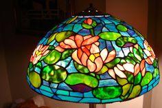Bright stained glass.