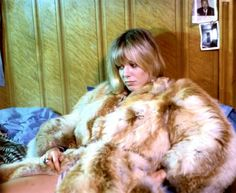 Anita Pallenberg in fur