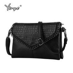 a1689cdb1d5 YBYT brand 2018 new chains alligator handbag hotsale women envelope clutch  ladies mobile purse shoulder messenger crossbody bags