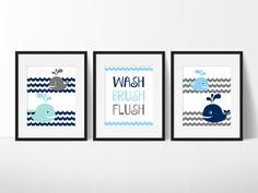 Merveilleux Whale Bathroom Art, Kids Bathroom Rules, Kids Bathroom Art
