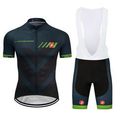 New Men s Cycling Jersey Team 2018 Pro Bib Shorts Kits Pad Bike Shirt  Tights Set 744fbfbf0