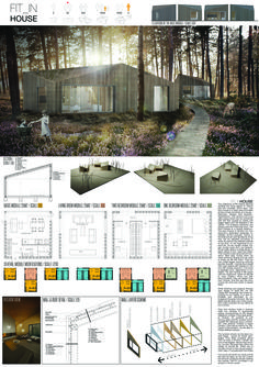 Anna Boruta - Zuzanna Szpocińska - Tomasz Marciniewicz - Paweł Wolanin Small House Plans, Competition, Floor Plans, Layout, Cabin, How To Plan, Interior Design, Trekking, Wall
