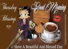 Coffee Cartoon, Mickey Mouse Pictures, Go To Facebook, Good Night Blessings, Days Of Week, Betty Boop Pictures, Better Day, Timeline Covers, Day For Night