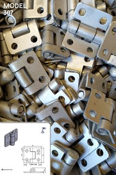 Hinge with holes, made of stainless steel. Size 33 x 40 x 2 mm, pin 5 mm. Visit our webshop to find out more about our many hardware models! Made in Finland, can be delivered worldwide. Types Of Hinges, Gate Hinges, Stainless Steel Hinges, Finland, How To Find Out, Hardware, Doors, Models, Door Hinges