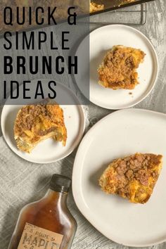 Out of ideas for quick and simple brunch?  Here are great ideas that can get brunch on the table quickly.  Using ingredients you likely already have in your pantry these recipes are sure to be family favorites. #weekdaymeal #mealprep Frozen Waffles, Make Ahead Brunch, Simple Baking, Simple Muffin Recipe, Easy Brunch Recipes, Hidden Veggies, Weekday Meals, Easy Smoothies, Easy Bread
