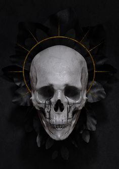 Print Poster, Poster Wall, Golden Crown, Skull Island, Graphic Design Studios, Black Dark, Surreal Art, Modern Prints, Skull Art